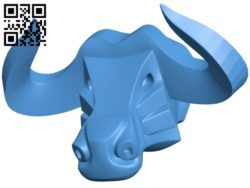 Cow head B005671 download free stl files 3d model for 3d printer and CNC carving
