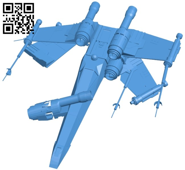 Crashed X-Wing Ship B005374 file stl free download 3D Model for CNC and 3d printer