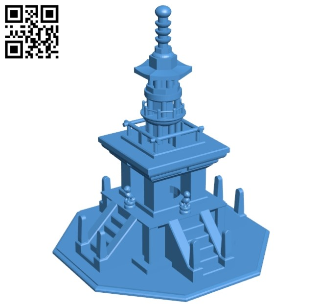 Dabo Tower - House B005408 file stl free download 3D Model for CNC and 3d printer
