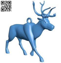 Deer keychain B005587 download free stl files 3d model for 3d printer and CNC carving