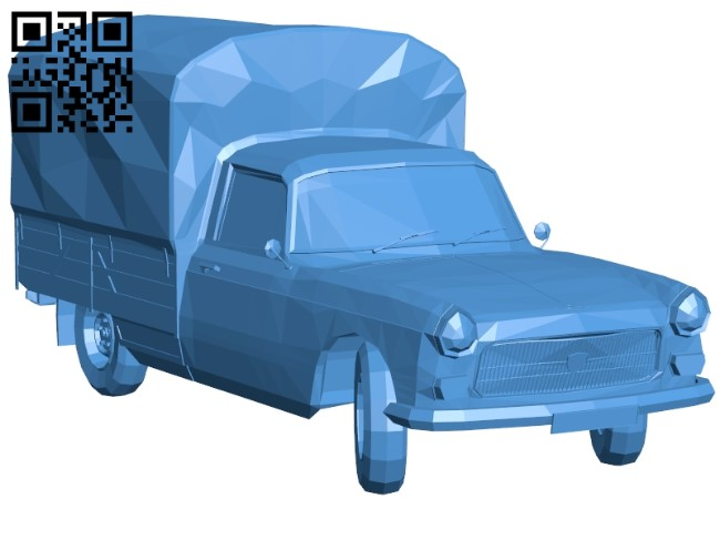 Delivery truck B005544 download free stl files 3d model for 3d printer and CNC carving