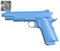 Desert warrior gun B005527 free download stl file 3D Model for CNC and 3d printer