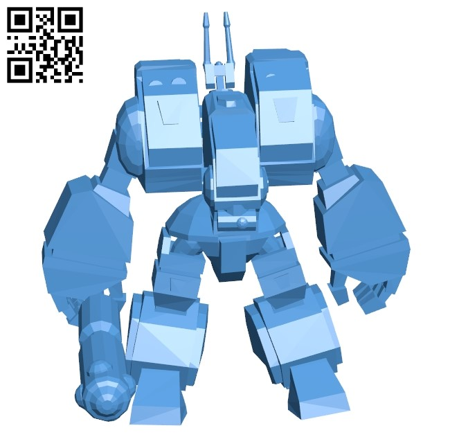 Destroid spartan B005416 file stl free download 3D Model for CNC and 3d printer