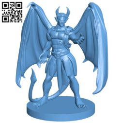 Devil Incubus B005688 download free stl files 3d model for 3d printer and CNC carving