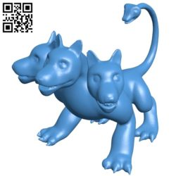Dog cute cerberus B005665 download free stl files 3d model for 3d printer and CNC carving