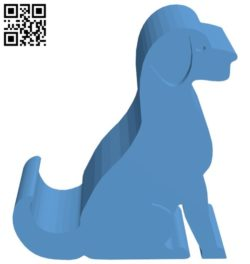 Dog-shaped phone holder B005760 download free stl files 3d model for 3d printer and CNC carving