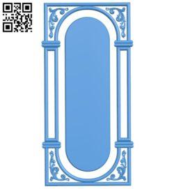 Door pattern design A003892 wood carving file stl free 3d model download for CNC