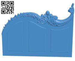 Door pattern design A003920 wood carving file stl free 3d model download for CNC