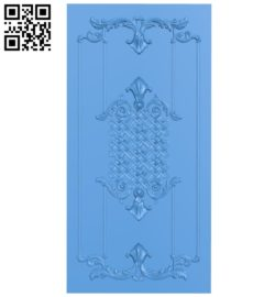 Door pattern design A003921 wood carving file stl free 3d model download for CNC