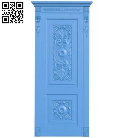Door pattern design A004020 wood carving file stl free 3d model download for CNC