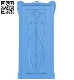 Door pattern design A004022 wood carving file stl free 3d model download for CNC