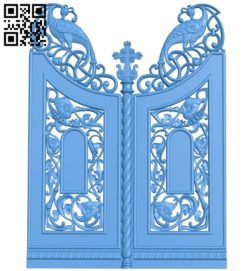 Door pattern design A004032 wood carving file stl free 3d model download for CNC