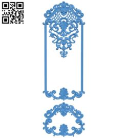 Door pattern design A004039 download free stl files 3d model for CNC wood carving