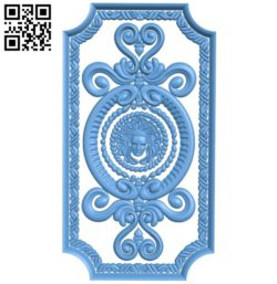 Door pattern design A004186 download free stl files 3d model for CNC wood carving