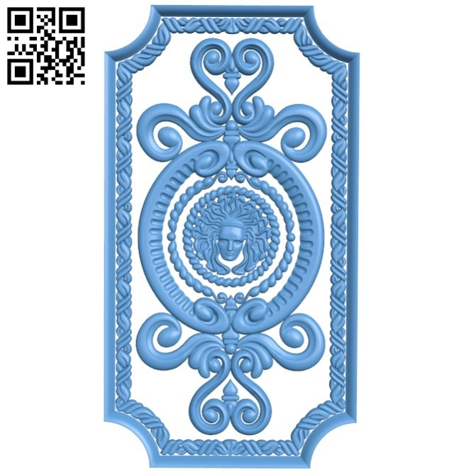 Door pattern design A004186 download free stl files 3d model for CNC wood carving