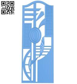 Door-shaped pattern design A003825 wood carving file stl free 3d model download for CNC