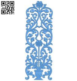 Door-shaped pattern design A003826 wood carving file stl free 3d model download for CNC