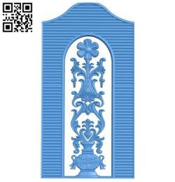 Door-shaped pattern design A003827 wood carving file stl free 3d model download for CNC