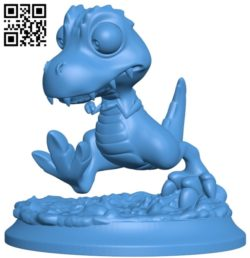 Dragon Dino Trex B005662 download free stl files 3d model for 3d printer and CNC carving