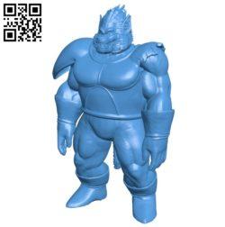 Dragon balls vegeta B005525 free download stl file 3D Model for CNC and 3d printer
