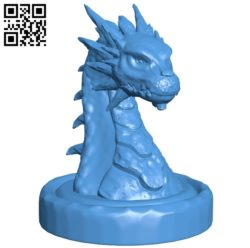 Dragon bust B005418 file stl free download 3D Model for CNC and 3d printer