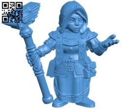 Dwarf woman rune priest B005434 file stl free download 3D Model for CNC and 3d printer