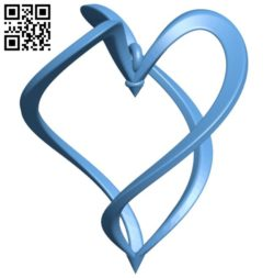 Earrings with heart B005756 download free stl files 3d model for 3d printer and CNC carving