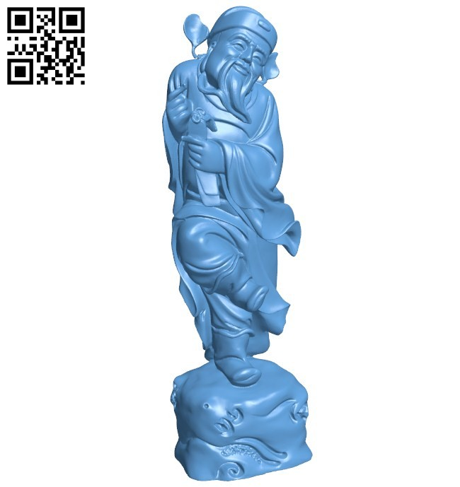 Eastern religious statue B005776 download free stl files 3d model for 3d printer and CNC carving