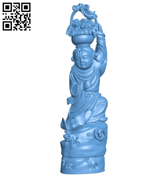 Eastern religious statue B005778 download free stl files 3d model for 3d printer and CNC carving