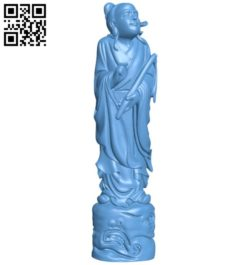 Eastern religious statue B005780 download free stl files 3d model for 3d printer and CNC carving