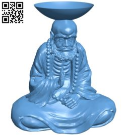 Eastern religious statue B005781 download free stl files 3d model for 3d printer and CNC carving