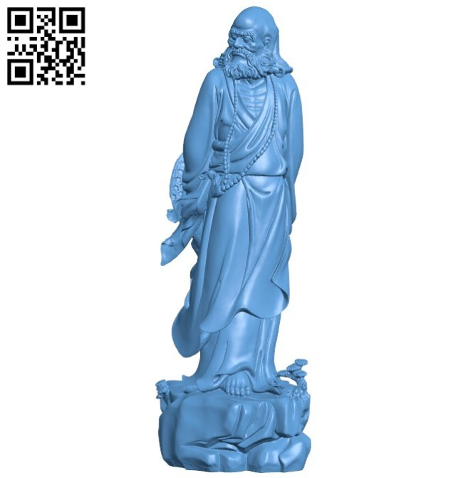Eastern religious statue B005782 download free stl files 3d model for 3d printer and CNC carving