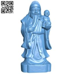 Eastern religious statue B005784 download free stl files 3d model for 3d printer and CNC carving