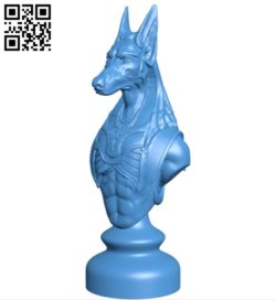 Egypt chess set – Knight B005444 file stl free download 3D Model for CNC and 3d printer