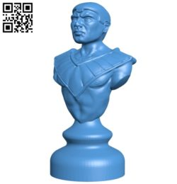 Egypt chess set – Pawn B005445 file stl free download 3D Model for CNC and 3d printer