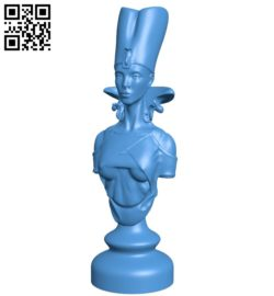 Egypt chess set – Queen B005446 file stl free download 3D Model for CNC and 3d printer