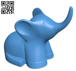 Elephant B005625 download free stl files 3d model for 3d printer and CNC carving