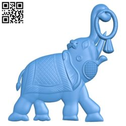 Elephant and ring A003828 wood carving file stl free 3d model download for CNC