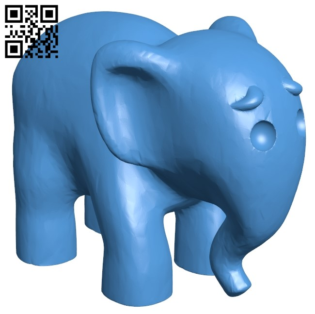 Elephant eyebrows B005469 file stl free download 3D Model for CNC and 3d printer