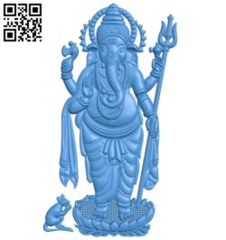 Elephant god A003823 wood carving file stl free 3d model download for CNC