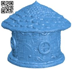 Fairy House B005414 file stl free download 3D Model for CNC and 3d printer