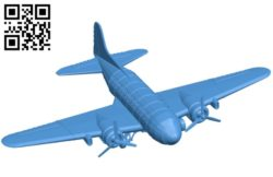 Fallout plane B005423 file stl free download 3D Model for CNC and 3d printer