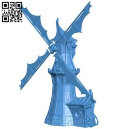 Fantasy Windmill – house B005499 file stl free download 3D Model for CNC and 3d printer