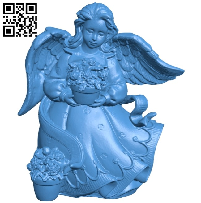 Female Angel B005380 file stl free download 3D Model for CNC and 3d printer