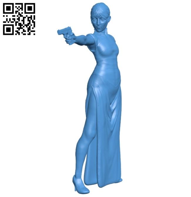 Female assassin B005376 file stl free download 3D Model for CNC and 3d printer