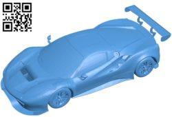Ferrari 488 car B005431 file stl free download 3D Model for CNC and 3d printer