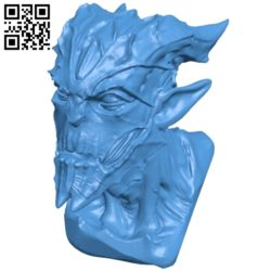 Gargoyle head B005400 file stl free download 3D Model for CNC and 3d printer