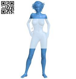 Girl B005429 file stl free download 3D Model for CNC and 3d printer