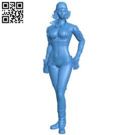 Girl mechanic B005428 file stl free download 3D Model for CNC and 3d printer