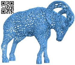 Goat B005570 download free stl files 3d model for 3d printer and CNC carving